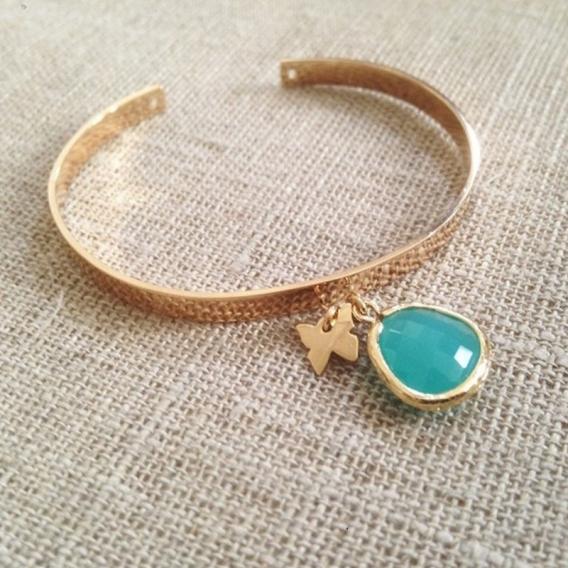 Photo de Bracelets empierrés DEMI-JONC OPALE chez Perrine et Antoinette