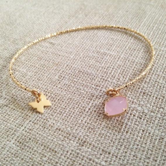 Photo de Bracelets empierrés DEMI-JONC FLORIANE chez Perrine et Antoinette