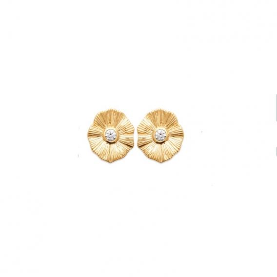 Photo de Boucles d'oreilles empierrées CLOUS NAOMI chez Perrine et Antoinette